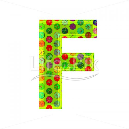 3d letter with decorative texture – F - Royalty free stock photos, illustrations and 3d letters fonts