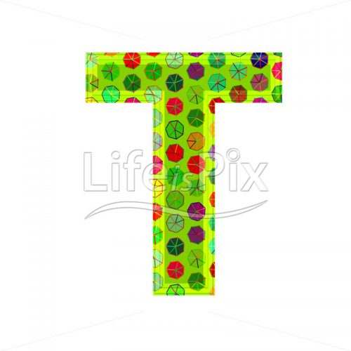 3d letter with decorative texture – T - Royalty free stock photos, illustrations and 3d letters fonts