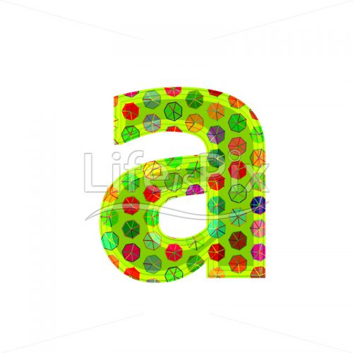 3d letter with decorative texture – a - Royalty free stock photos, illustrations and 3d letters fonts