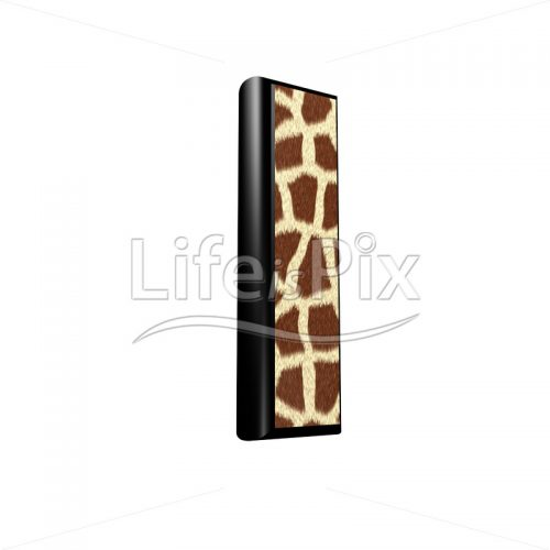 3d letter with giraffe fur texture – l - Royalty free stock photos, illustrations and 3d letters fonts