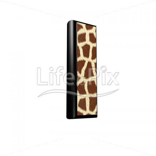 3d letter with giraffe fur texture – I – Royalty free stock photos, illustrations and 3d letters fonts