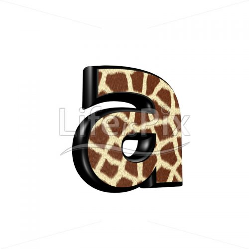 3d letter with giraffe fur texture – a – Royalty free stock photos, illustrations and 3d letters fonts
