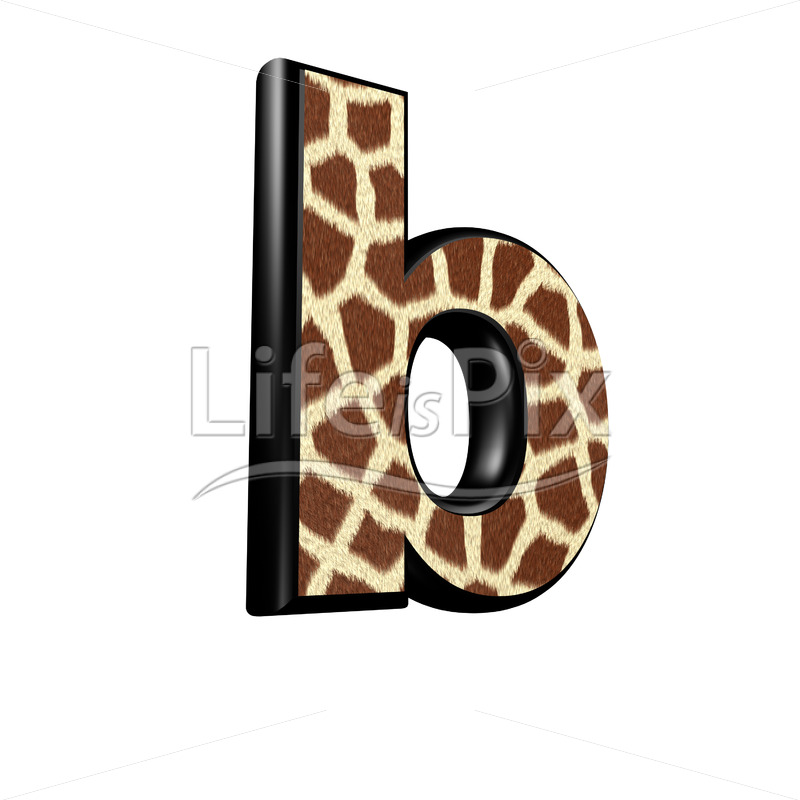3d letter with giraffe fur texture – b – Royalty free stock photos, illustrations and 3d letters fonts