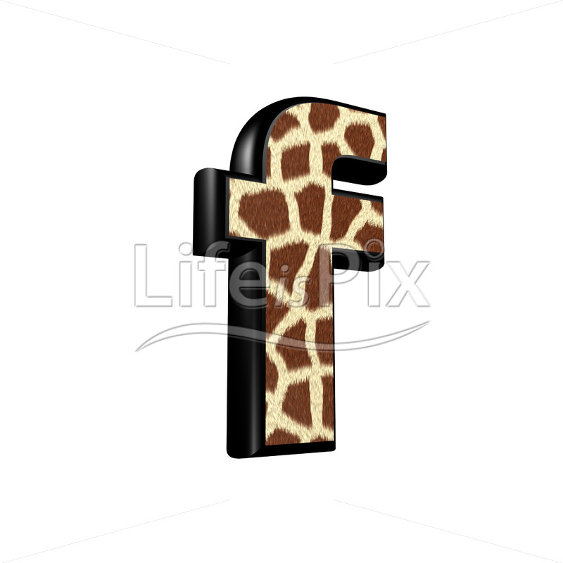3d letter with giraffe fur texture – f – Royalty free stock photos, illustrations and 3d letters fonts
