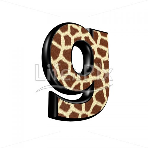 3d letter with giraffe fur texture – g – Royalty free stock photos, illustrations and 3d letters fonts