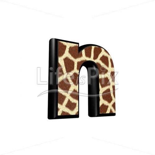 3d letter with giraffe fur texture – n – Royalty free stock photos, illustrations and 3d letters fonts