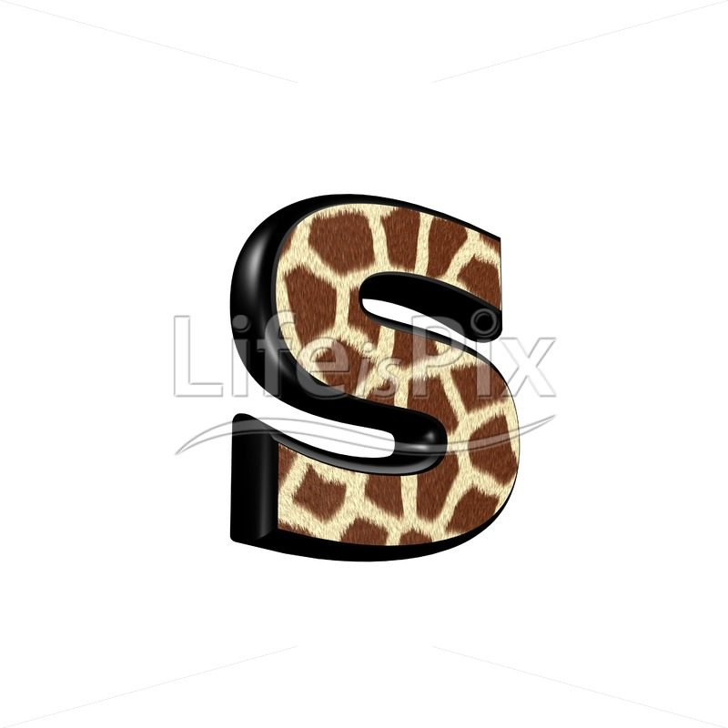 3d letter with giraffe fur texture – s – Royalty free stock photos, illustrations and 3d letters fonts