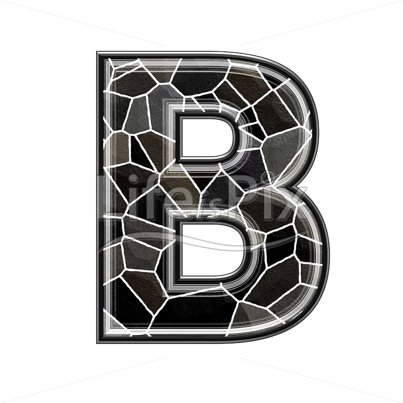 3d letter with stone pavement texture – B - Royalty free stock photos, illustrations and 3d letters fonts