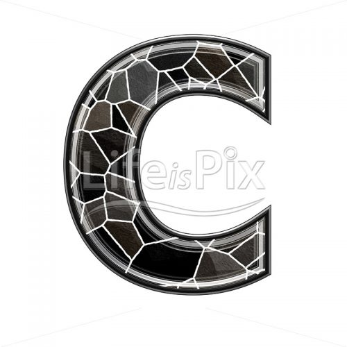 3d letter with stone pavement texture – C - Royalty free stock photos, illustrations and 3d letters fonts