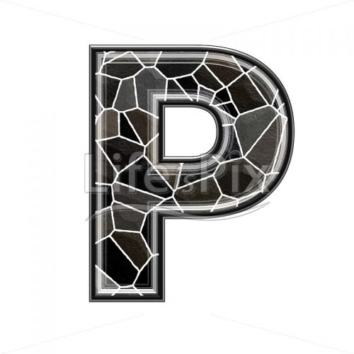 3d letter with stone pavement texture – P - Royalty free stock photos, illustrations and 3d letters fonts