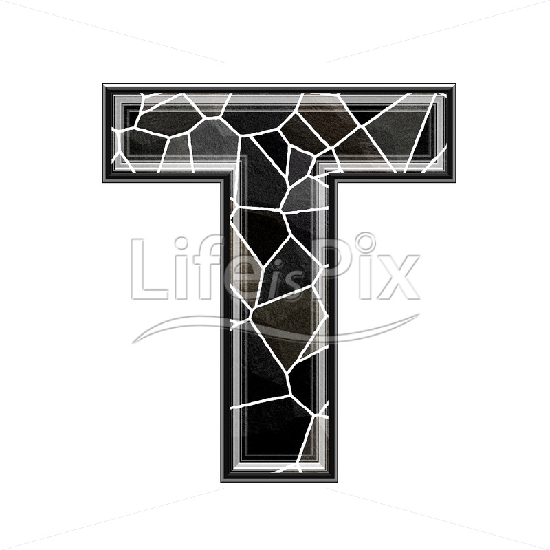 3d letter with stone pavement texture – T - Royalty free stock photos, illustrations and 3d letters fonts