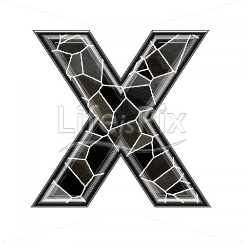 3d letter with stone pavement texture – X - Royalty free stock photos, illustrations and 3d letters fonts
