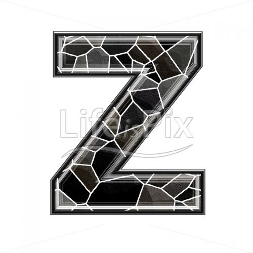 3d letter with stone pavement texture – Z - Royalty free stock photos, illustrations and 3d letters fonts