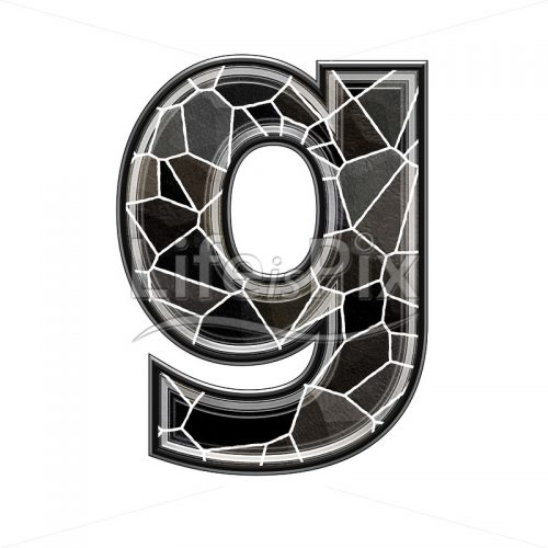 3d letter with stone pavement texture – g - Royalty free stock photos, illustrations and 3d letters fonts