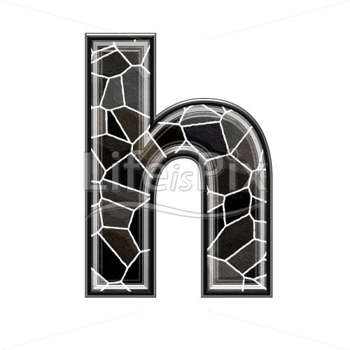 3d letter with stone pavement texture – h - Royalty free stock photos, illustrations and 3d letters fonts