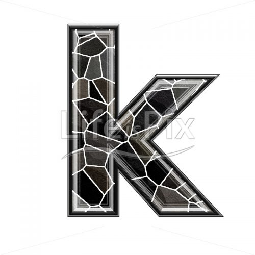 3d letter with stone pavement texture – k - Royalty free stock photos, illustrations and 3d letters fonts