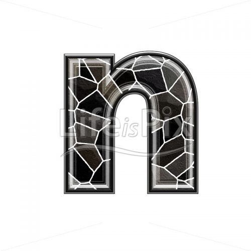 3d letter with stone pavement texture – n – Royalty free stock photos, illustrations and 3d letters fonts