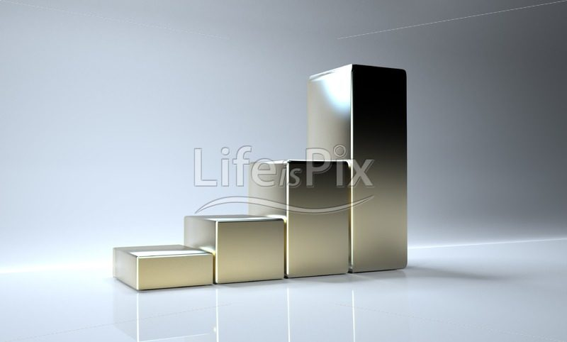 3d metallic graphs on grey background - Royalty free stock photos, illustrations and 3d letters fonts