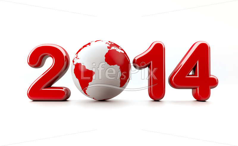 3d new year 2014 - Royalty free stock photos, illustrations and 3d letters fonts