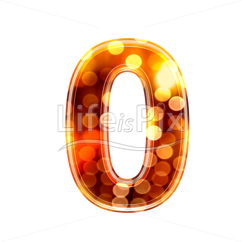 3d number with blur defocus lights texture – 0 – Royalty free stock photos, illustrations and 3d letters fonts