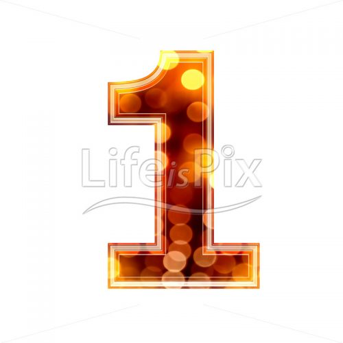 3d number with blur defocus lights texture – 1 – Royalty free stock photos, illustrations and 3d letters fonts