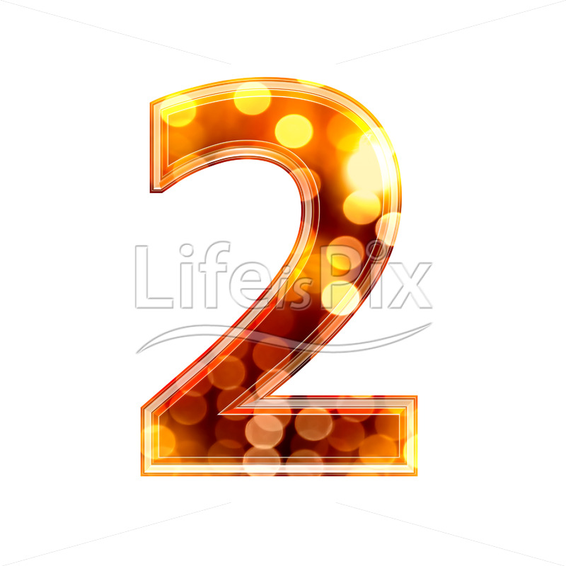 3d number with blur defocus lights texture – 2 – Royalty free stock photos, illustrations and 3d letters fonts