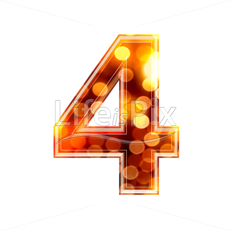 3d number with blur defocus lights texture – 4 – Royalty free stock photos, illustrations and 3d letters fonts