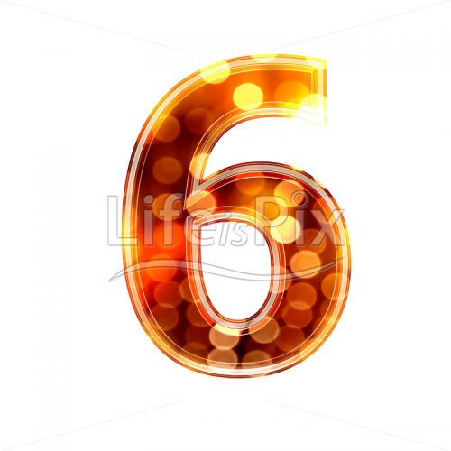 3d number with blur defocus lights texture – 6 – Royalty free stock photos, illustrations and 3d letters fonts
