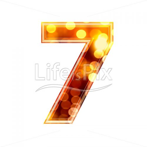 3d number with blur defocus lights texture – 7 – Royalty free stock photos, illustrations and 3d letters fonts