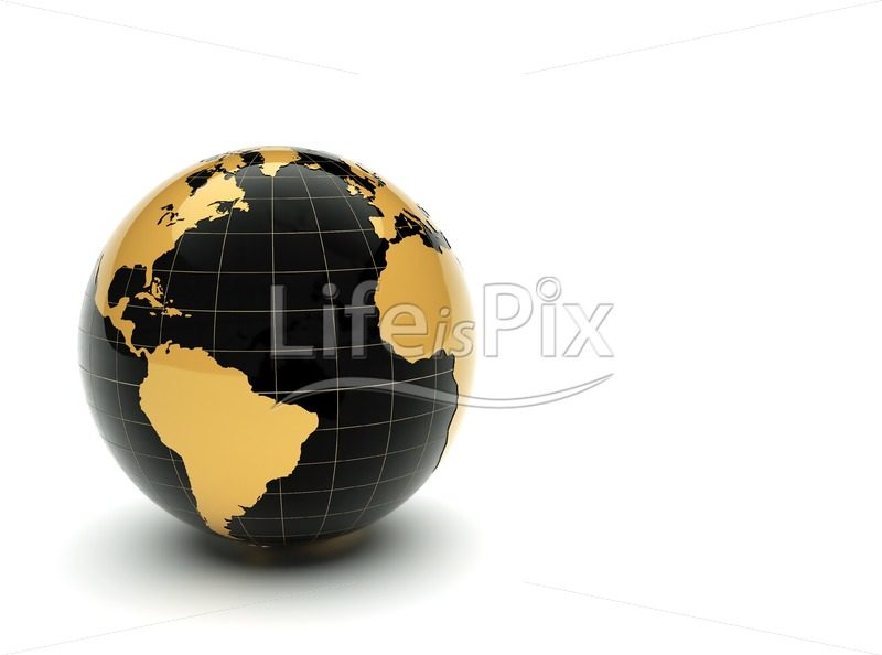 3d reflective globe - Royalty free stock photos, illustrations and 3d letters fonts