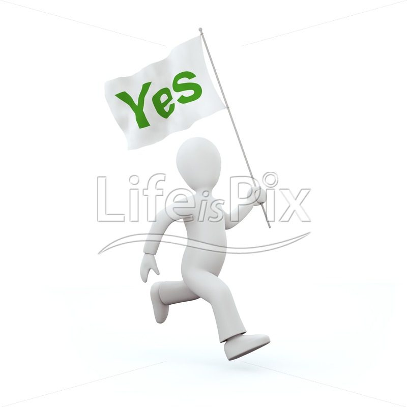3d running character with flag - Royalty free stock photos, illustrations and 3d letters fonts