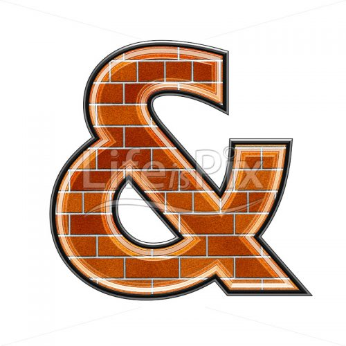 3d sign with brick wall texture – & – Royalty free stock photos, illustrations and 3d letters fonts