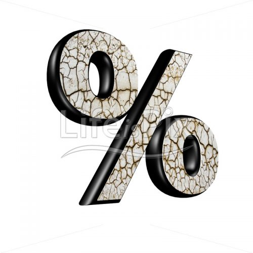 3d sign with dry ground texture – percent – Royalty free stock photos, illustrations and 3d letters fonts