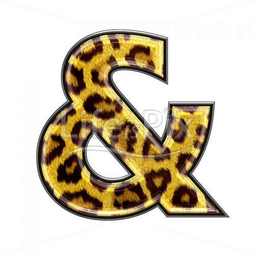 3d sign with panther skin texture – & – Royalty free stock photos, illustrations and 3d letters fonts