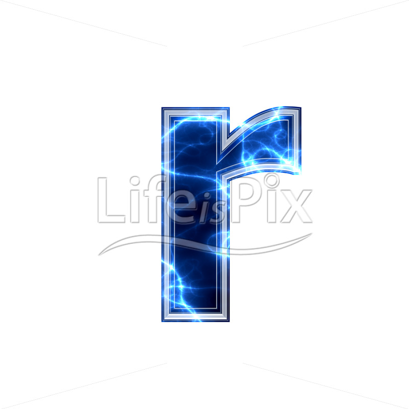 3d small letter with blue lightning texture on white background r 3d small letter with blue lightning texture on white background r royalty free stock thecheapjerseys Images