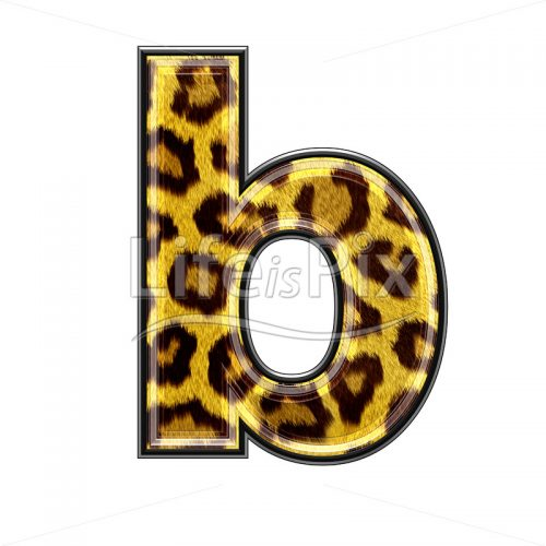 3d small letter with panther skin texture – B – Royalty free stock photos, illustrations and 3d letters fonts