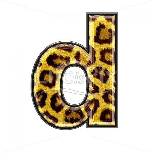 3d small letter with panther skin texture – D – Royalty free stock photos, illustrations and 3d letters fonts
