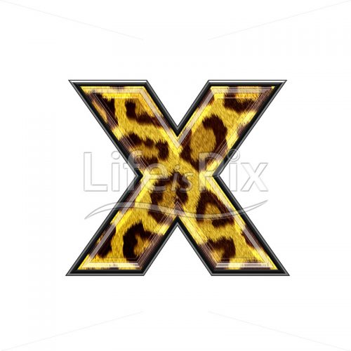 3d small letter with panther skin texture – X – Royalty free stock photos, illustrations and 3d letters fonts