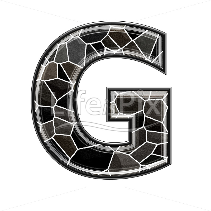 3d uppercase letter with stone pavement texture – G - Royalty free stock photos, illustrations and 3d letters fonts