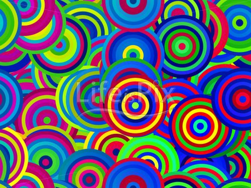 Abstract background with colored circles - Royalty free stock photos, illustrations and 3d letters fonts