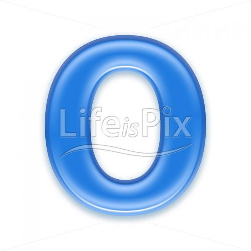 Aqua letter isolated on white background  – O – Royalty free stock photos, illustrations and 3d letters fonts