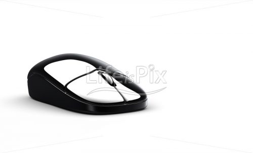 Black computer mouse - Royalty free stock photos, illustrations and 3d letters fonts