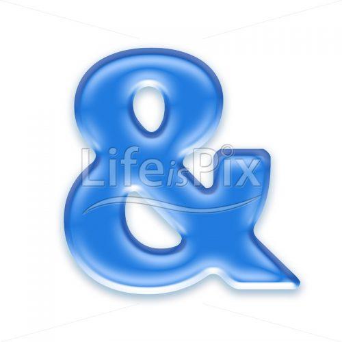 Blue aqua & sign on white backgroundBlue aqua & sign on white background – Royalty free stock photos, illustrations and 3d letters fonts