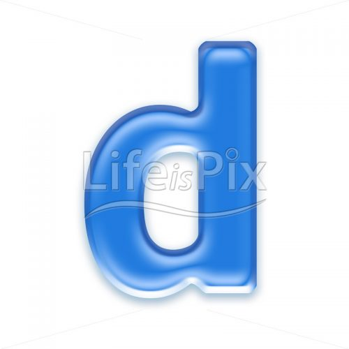 Blue-aqua-letter-on-white-background-Small-d