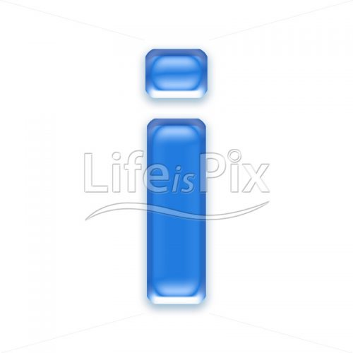 Blue-aqua-letter-on-white-background-Small-i