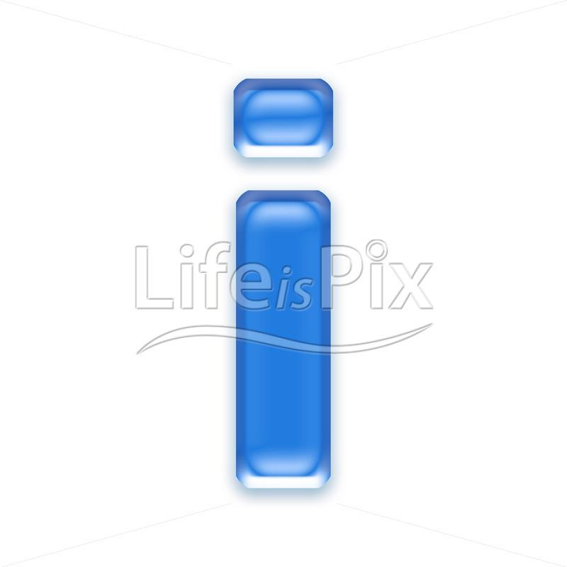 Blue-aqua-letter-on-white-background-Small-i