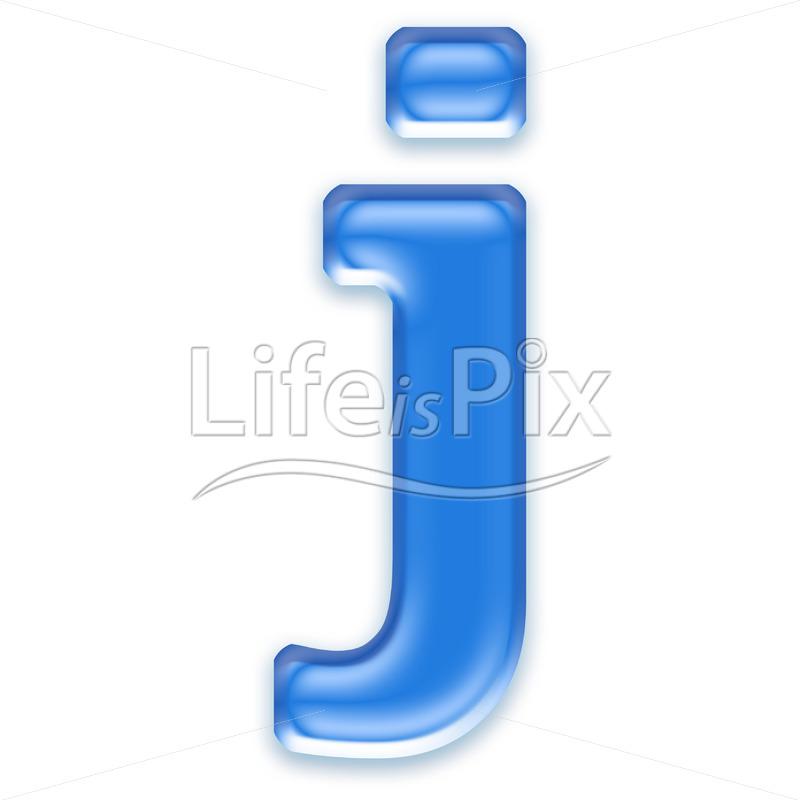 Blue-aqua-letter-on-white-background-Small-j