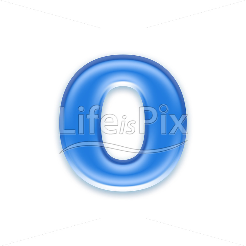 Blue-aqua-letter-on-white-background-Small-o