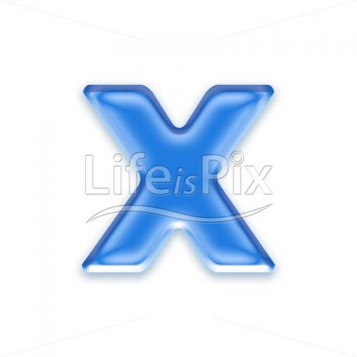 Blue-aqua-letter-on-white-background-Small-x