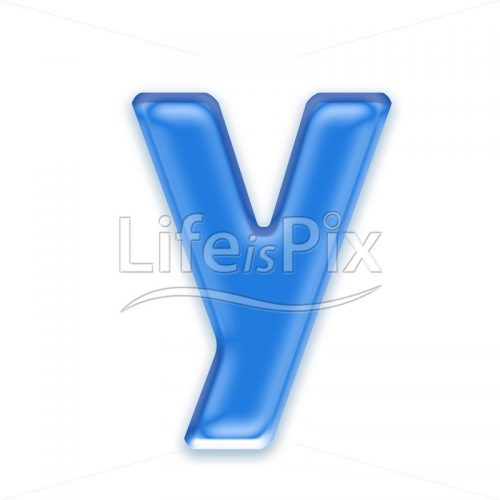 Blue-aqua-letter-on-white-background-Small-y